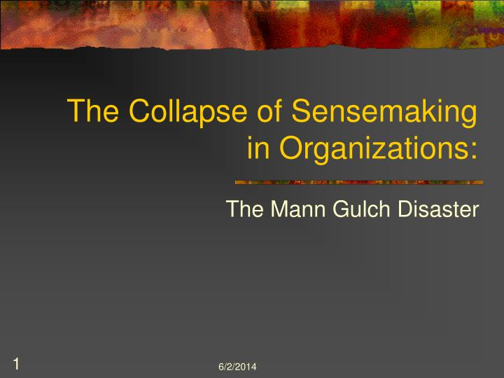 the mann gulch disaster case