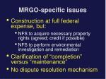 mrgo specific issues