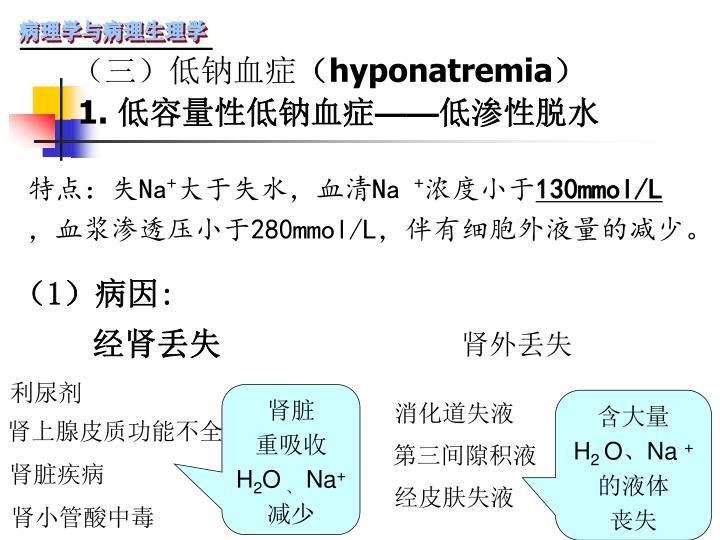 (三)低钠血症
