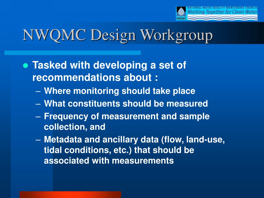 NWQMC Design Workgroup