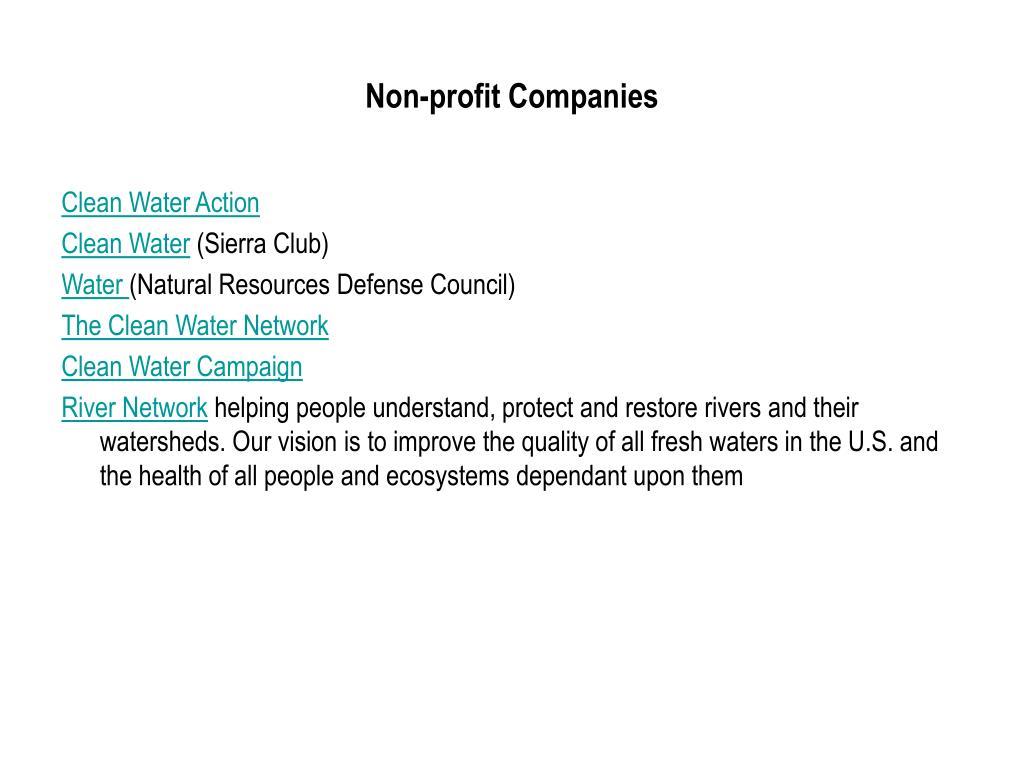 Non-profit Companies