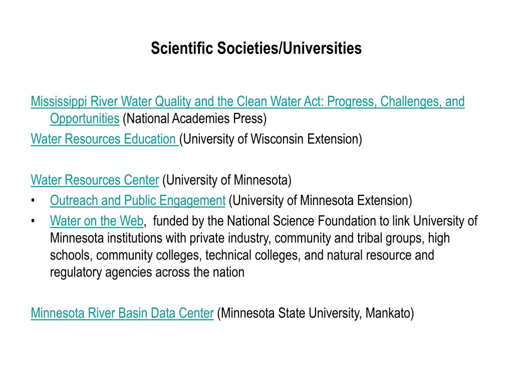 Scientific Societies/Universities