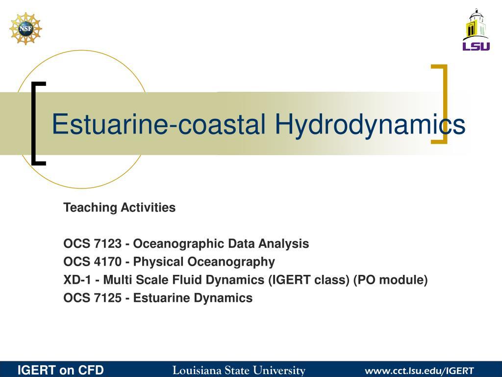 Estuarine-coastal Hydrodynamics