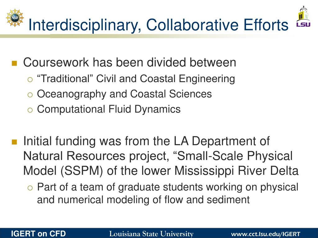 Interdisciplinary, Collaborative Efforts