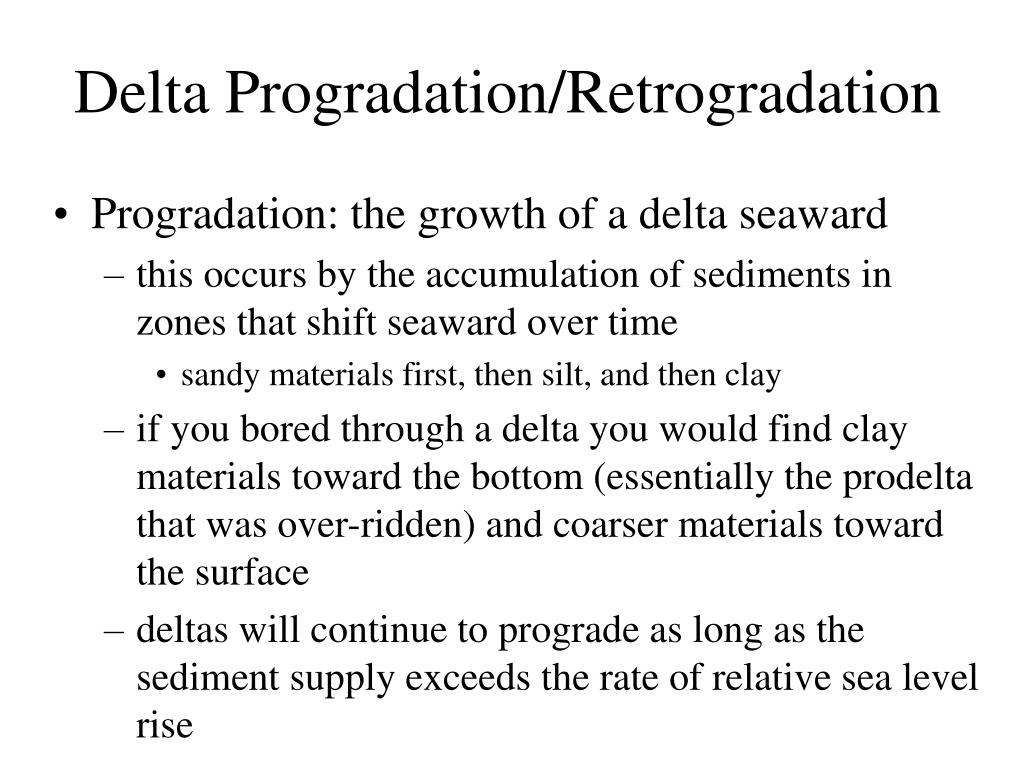 Delta Progradation/Retrogradation