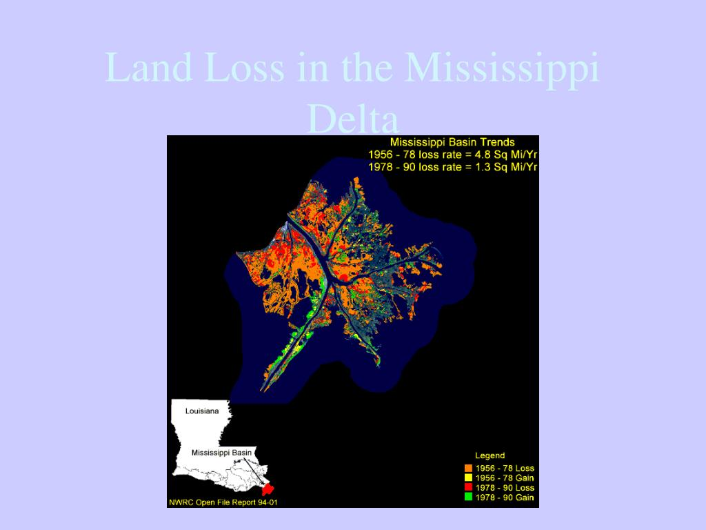 Land Loss in the Mississippi Delta