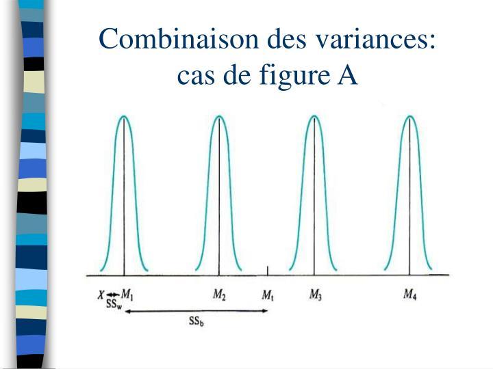 Combinaison des variances:      cas de figure A