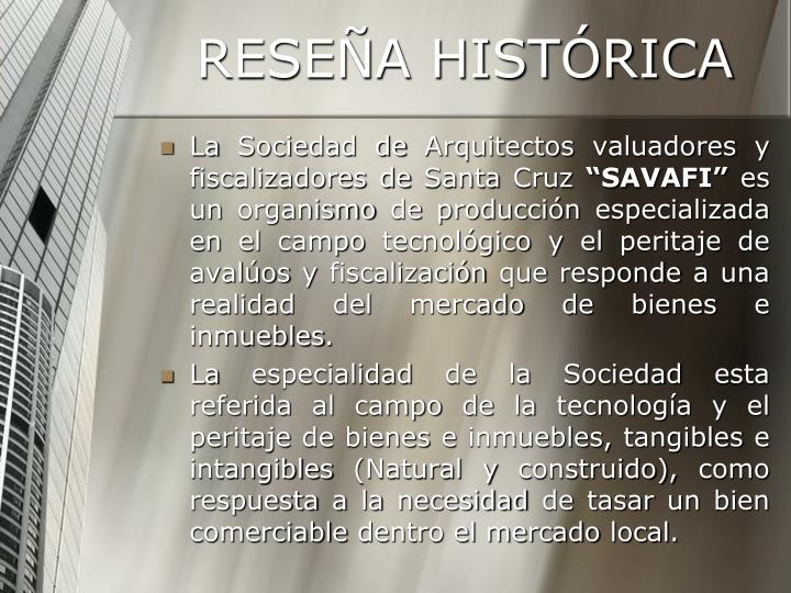 Rese a hist rica