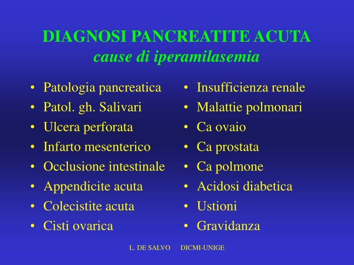 Patologia pancreatica