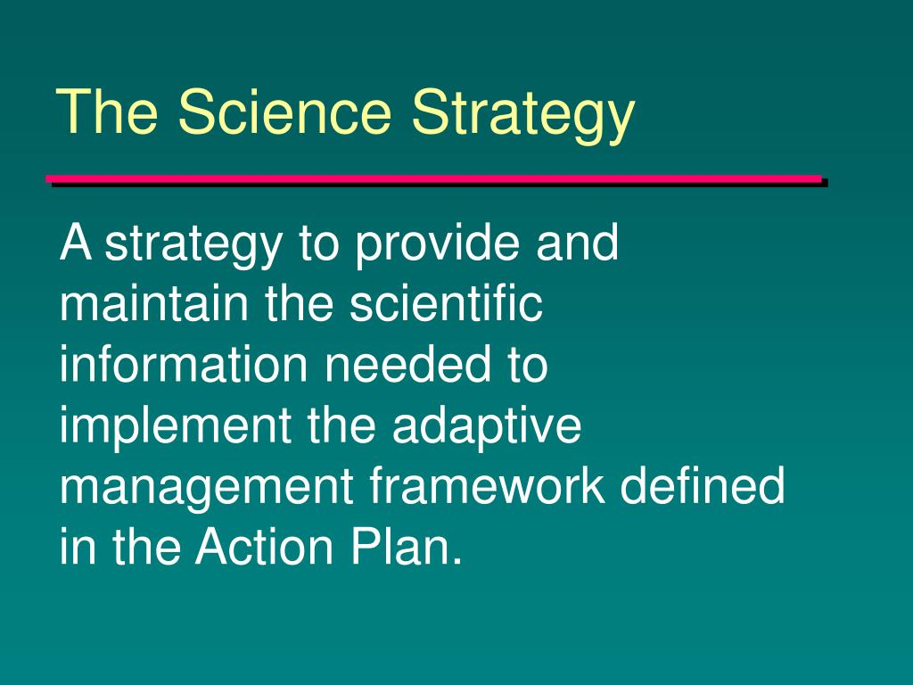 The Science Strategy