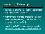 workshop follow up