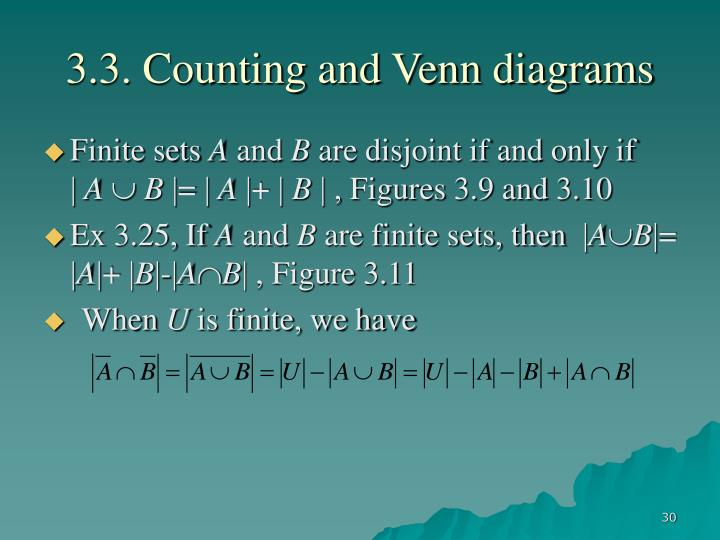 3.3. Counting and Venn diagrams