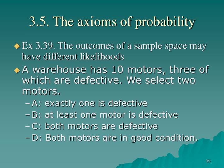 3.5. The axioms of probability