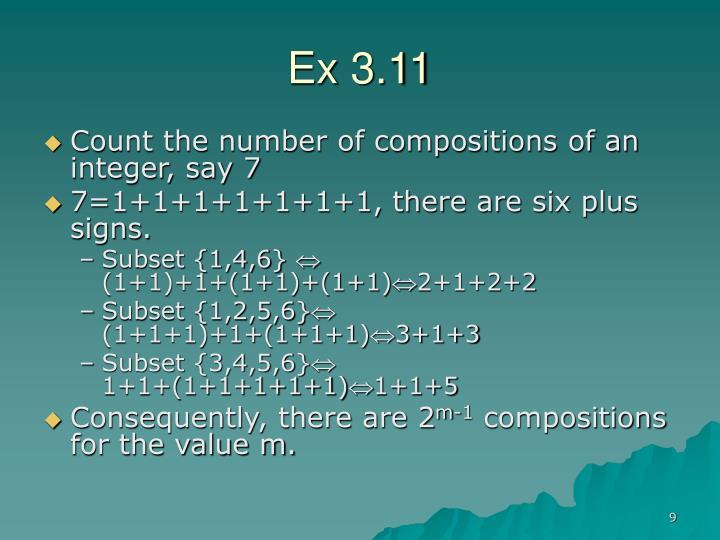 Ex 3.11