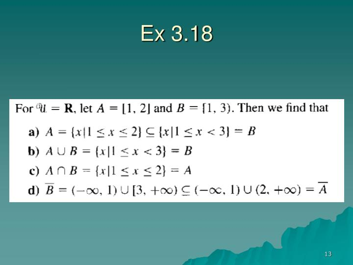 Ex 3.18