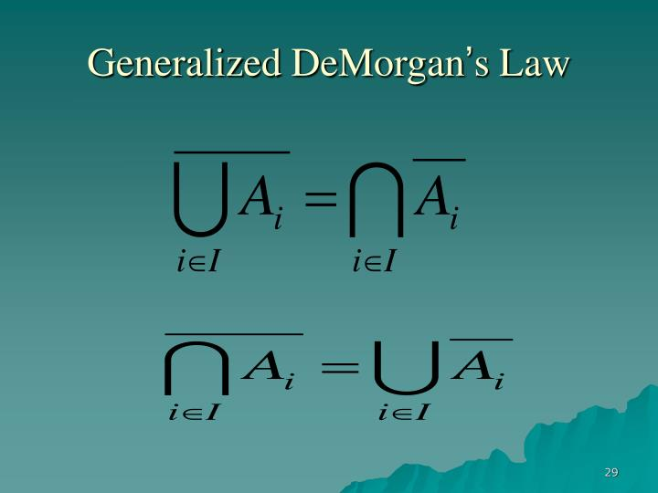 Generalized DeMorgan