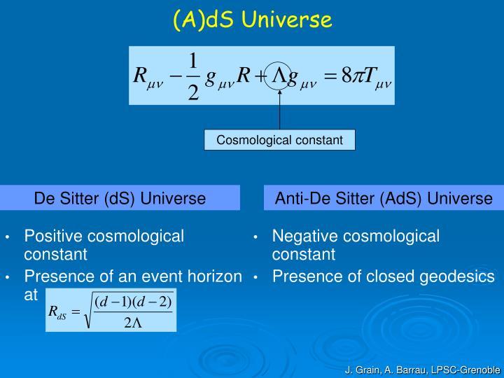 Positive cosmological constant