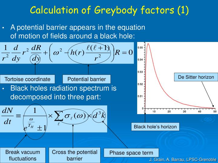 Calculation of Greybody factors (1)