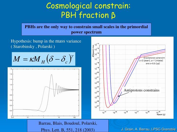 Cosmological constrain: