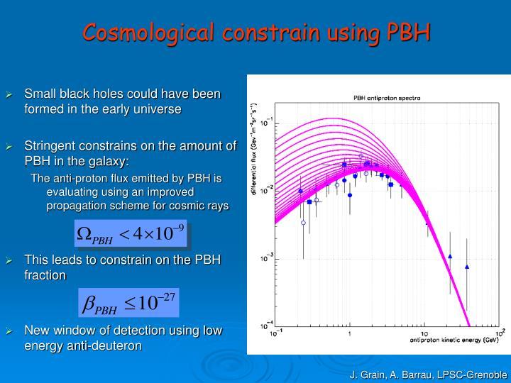 Cosmological constrain using PBH