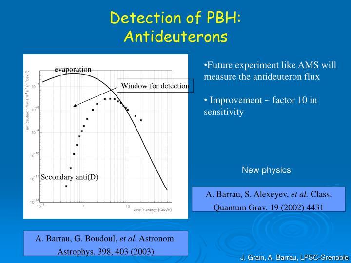 Detection of PBH: