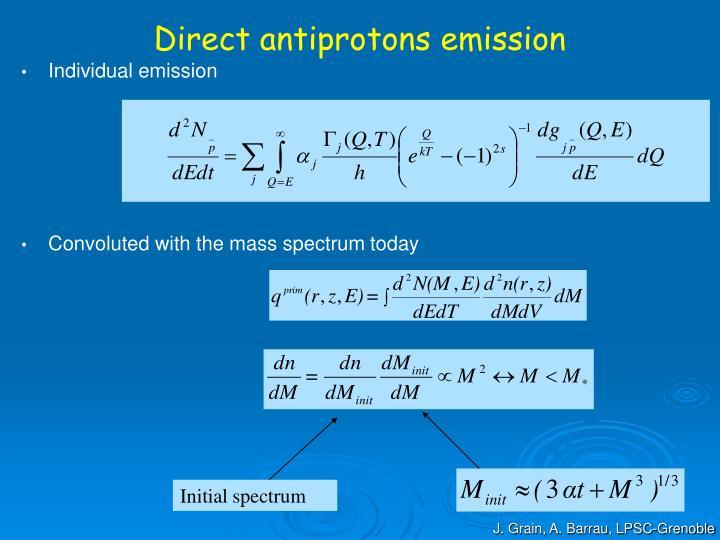 Direct antiprotons emission