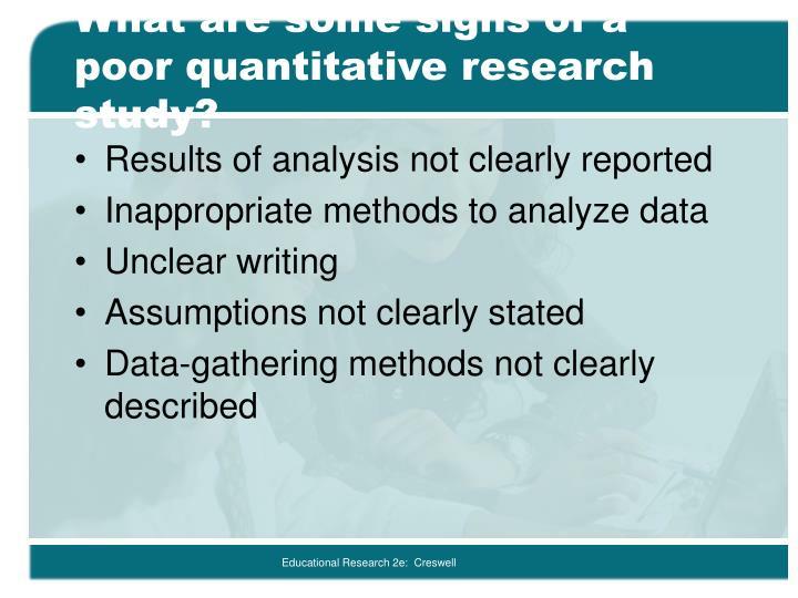 Quantitative research limitations
