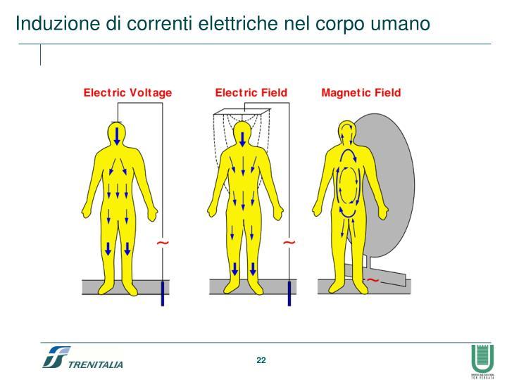 Induzione di correnti elettriche nel corpo umano