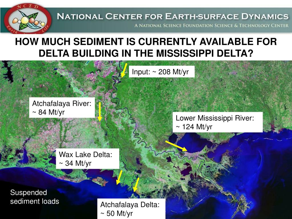 HOW MUCH SEDIMENT IS CURRENTLY AVAILABLE FOR DELTA BUILDING IN THE MISSISSIPPI DELTA?
