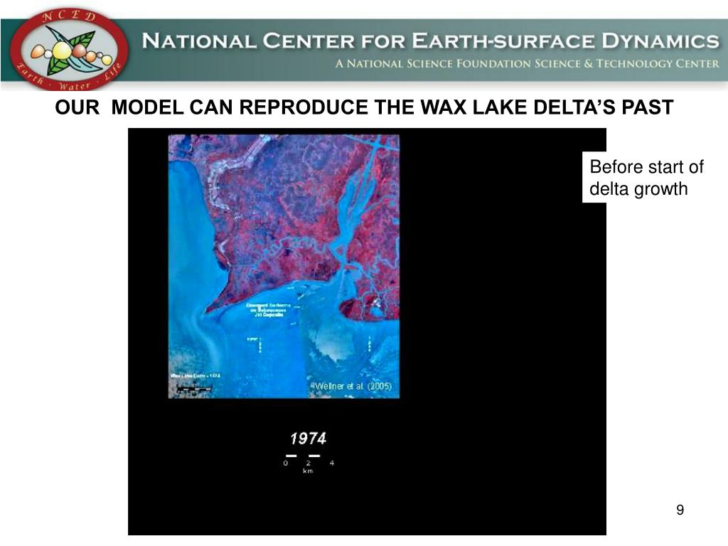 OUR  MODEL CAN REPRODUCE THE WAX LAKE DELTA'S PAST