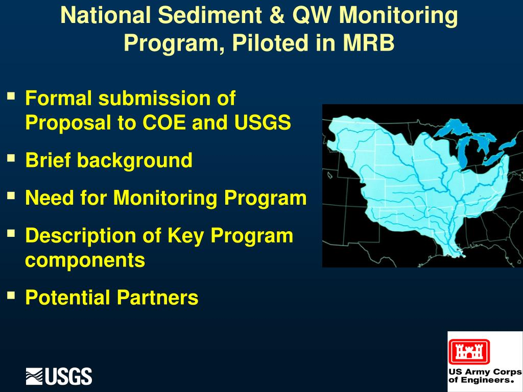 National Sediment & QW Monitoring Program, Piloted in MRB