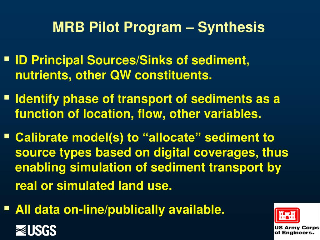 ID Principal Sources/Sinks of sediment, nutrients, other QW constituents.