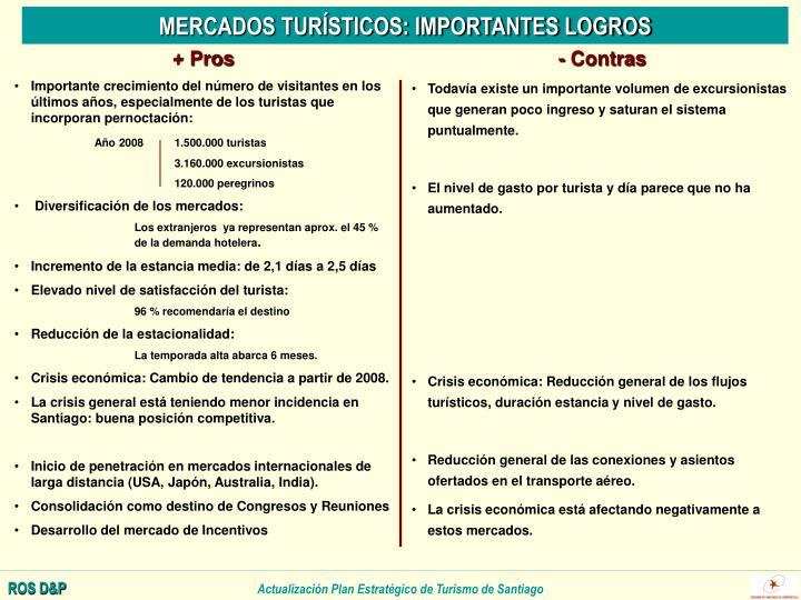 MERCADOS TURÍSTICOS: IMPORTANTES LOGROS