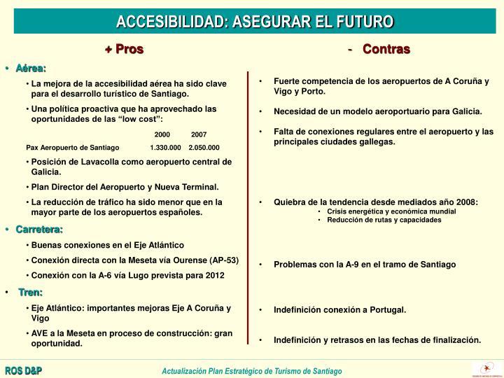 ACCESIBILIDAD: ASEGURAR EL FUTURO
