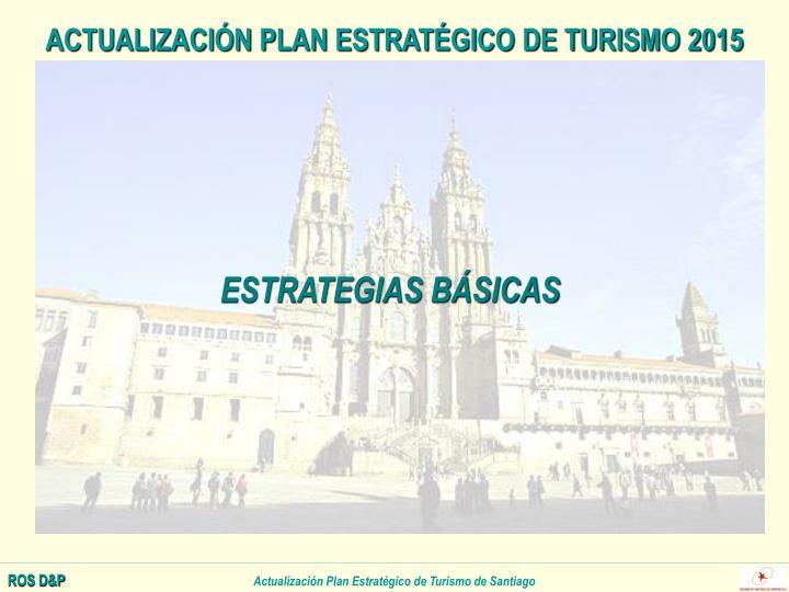 ACTUALIZACIÓN PLAN ESTRATÉGICO DE TURISMO 2015