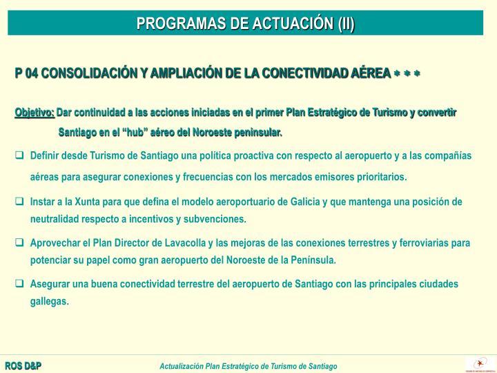 PROGRAMAS DE ACTUACIÓN (II)