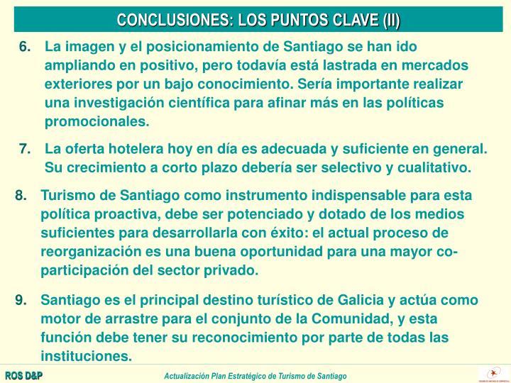 CONCLUSIONES: LOS PUNTOS CLAVE (II)