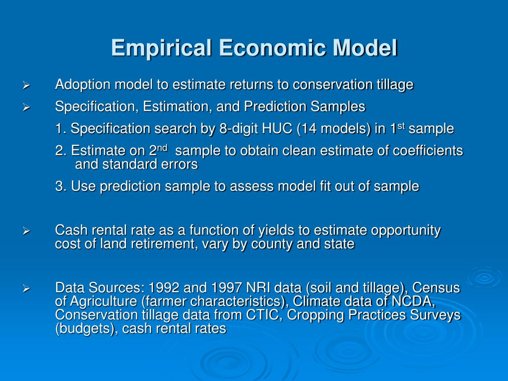 Empirical Economic Model
