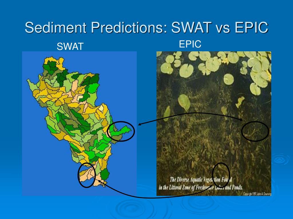 Sediment Predictions: SWAT vs EPIC