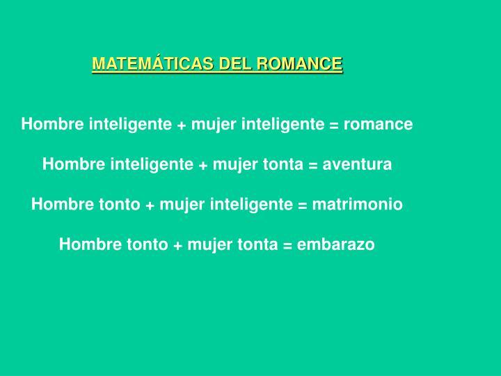 MATEMÁTICAS DEL ROMANCE