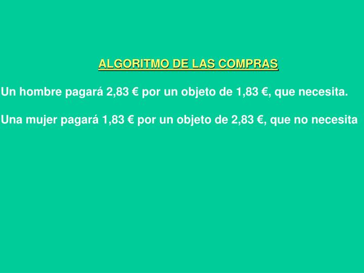 ALGORITMO DE LAS COMPRAS