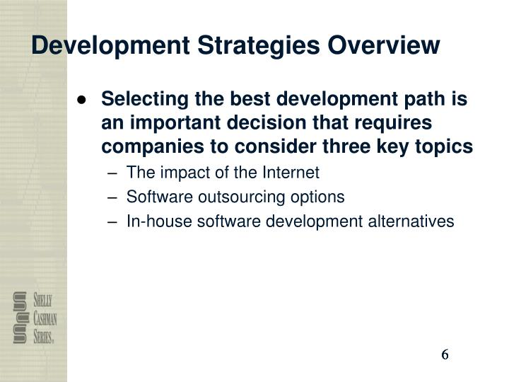 Development Strategies Overview