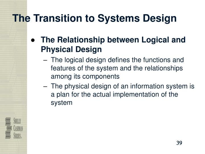 The Transition to Systems Design