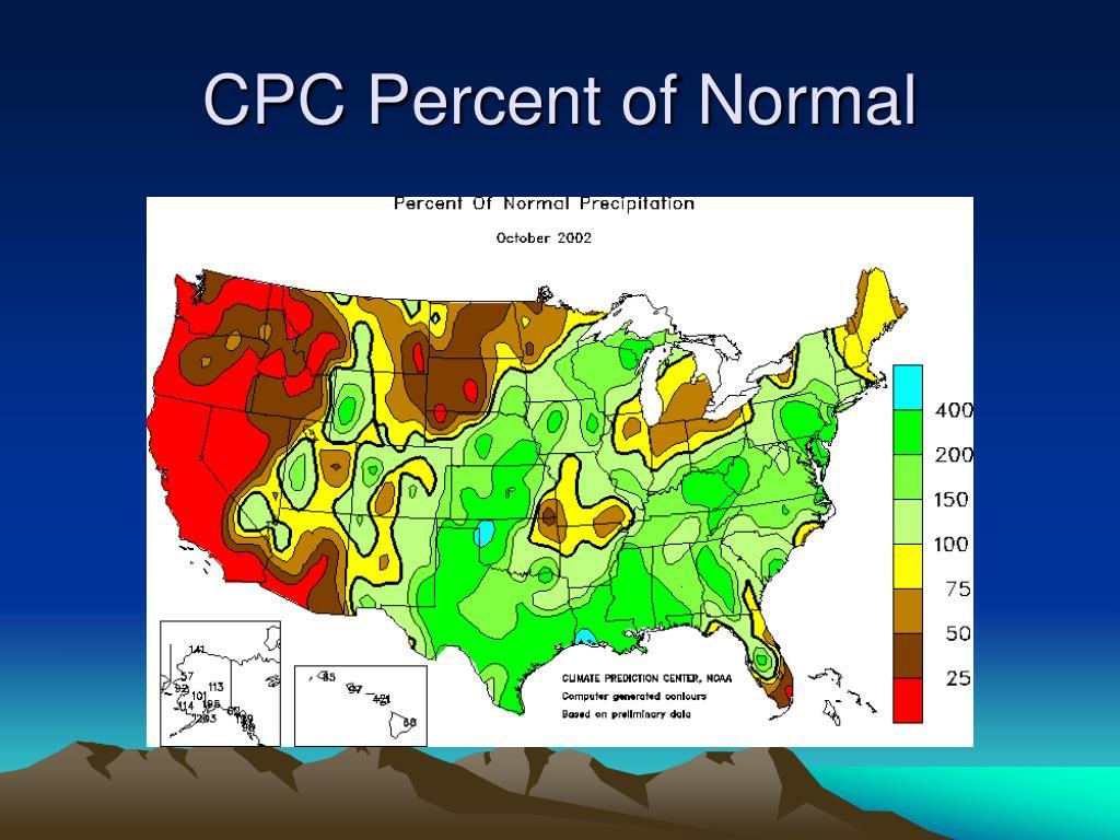 CPC Percent of Normal