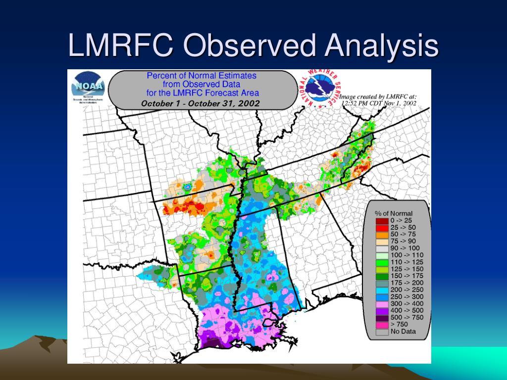 LMRFC Observed Analysis