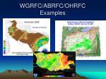 wgrfc abrfc ohrfc examples