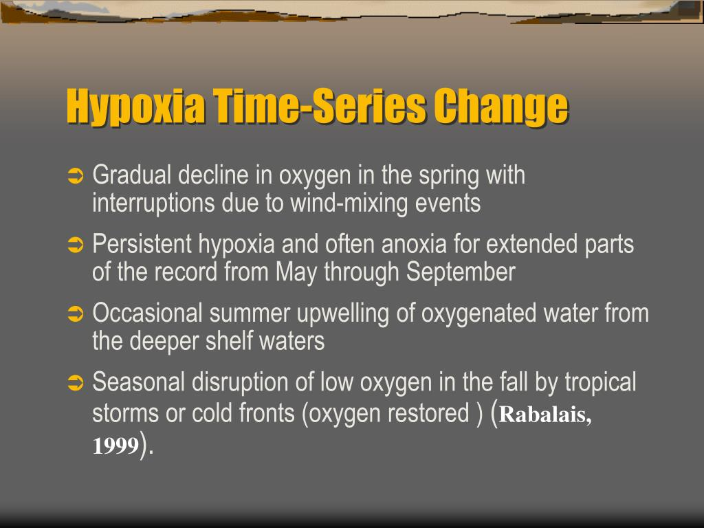 Hypoxia Time-Series Change