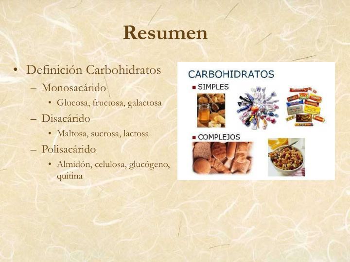 Definición Carbohidratos