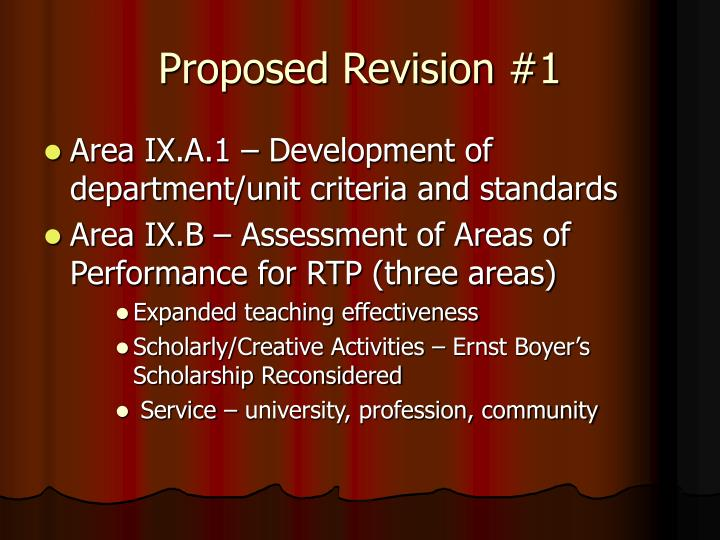 Proposed Revision #1