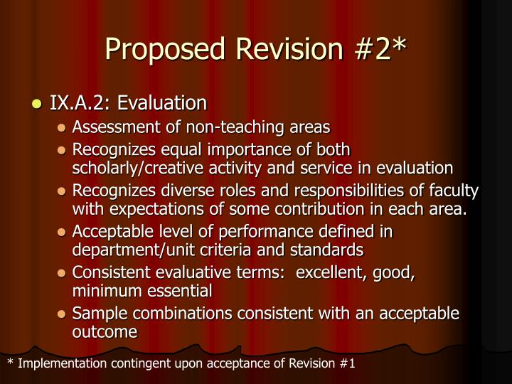 Proposed Revision #2*